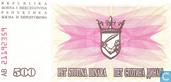 Billets de banque - Narodna Banka Bosne i Hercegovina - Bosnie-Herzégovine 500 Dinara