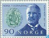 Postage Stamps - Norway - 90 blue