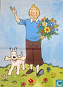 Poster - Comic books - Kuifje met bloemen