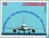 Timbres-poste - Luxembourg - Aviation Connection 40 années