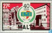 Postzegels - Malta - Vakbond 50 jaar