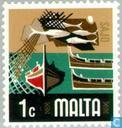 Postage Stamps - Malta - Fisheries