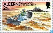Postzegels - Alderney - Vuurtorens