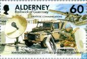 Postage Stamps - Alderney - 30th Signal Regiment