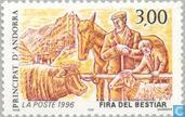 Postage Stamps - Andorra - French - Cattle market