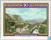 Postage Stamps - Liechtenstein - Menzinger, Moritz 150 years