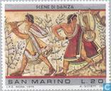 Postzegels - San Marino - Etruskische kunst
