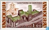 Postage Stamps - Andorra - French - Meritxell-New Church