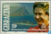 Postzegels - Gibraltar - Koningin Elizabeth II