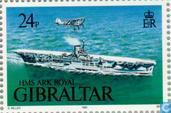 Postage Stamps - Gibraltar - Warships WWII