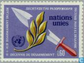 Postage Stamps - United Nations - Geneva - Decade of disarmament