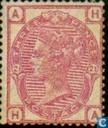 Timbres-poste - Grande-Bretagne [GBR] - Queen Victoria coin lettres colorées