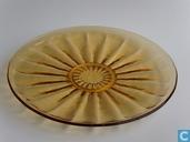 Glas / Kristall - Kristalunie - Bambusa taartplateau amber