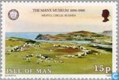 Postzegels - Man - Manx museum 1886-1986