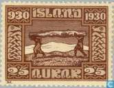 Postage Stamps - Iceland - 1000 years Allthings