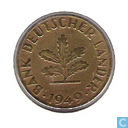 Coins - Germany - Germany 10 Pfennig 1949 (F)