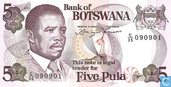 Billets de banque - Botswana - 1992-95 ND Issues - Botswana 5 Pula ND (1992)