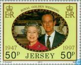 Timbres-poste - Jersey - La Reine Elizabeth II-mariage anniversaire
