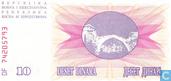 Billets de banque - Bosnie-et-Herzégovine - 1992-1993 Issue - Bosnie-Herzégovine 10 Dinara 1992