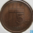 Coins - the Netherlands - Netherlands 5 cents 1987