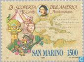 Postage Stamps - San Marino - Discovery America