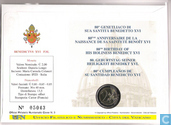 "Monnaies - Vatican - Vatican 2 euro 2007 (numisbrief) ""80th Anniversary of Pope Benedict XVI"""