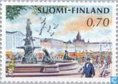 Postage Stamps - Finland - Helsinki Market Square