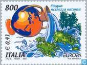 Postage Stamps - Italy [ITA] - Europe – Water, treasure of nature