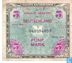 Bankbiljetten - Allied Military Currency - Duitsland 5 Mark