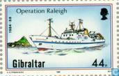Postzegels - Gibraltar - Operatie Raleigh