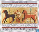 Briefmarken - San Marino - Etruskische Kunst