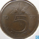 Coins - the Netherlands - Netherlands 5 cents 1977