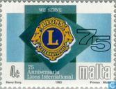 Postzegels - Malta - Lions 75 jaar