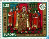Postzegels - Andorra - Frans - Europa – Schilderijen