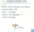 Coins - the Netherlands - Netherlands 1 gulden 2001 (PROOFLIKE - silver)