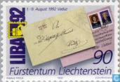 Briefmarken - Liechtenstein - Briefmarkenausstellung Leba