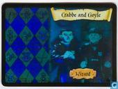 Trading cards - Harry Potter 4) Adventures at Hogwarts - Crabbe and Goyle