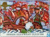 Postage Stamps - Great Britain [GBR] - Victory over Armada 400 years