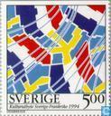 Timbres-poste - Suède [SWE] - Échanges culturels France