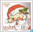 Postage Stamps - Malta - Santa