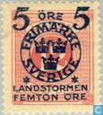 Postage Stamps - Sweden [SWE] - 5 + FEMTON # 12 red