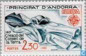 Briefmarken - Andorra - Französisch - Europa – Historische Ereignisse
