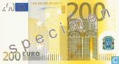 Zone Euro 200 Euro (Specimen)