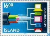 Timbres-poste - Islande - Europe – Transports et communications