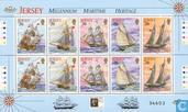 Postage Stamps - Jersey - Maritime heritage, sailing
