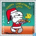Postage Stamps - Gibraltar - Peanuts Comic Strip