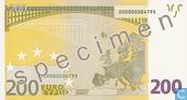 Banknoten  - Eurozone - 2002 'Signature W.F. Duisenberg' Issue - Eurozone 200 Euro (Specimen)