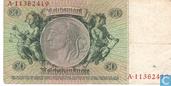Billets de banque - Reichsbanknote - Allemagne 50 Reichsmark
