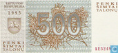 Lithuania 500 Talonas