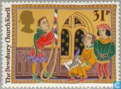 Postage Stamps - Great Britain [GBR] - Christmas Customs and stories